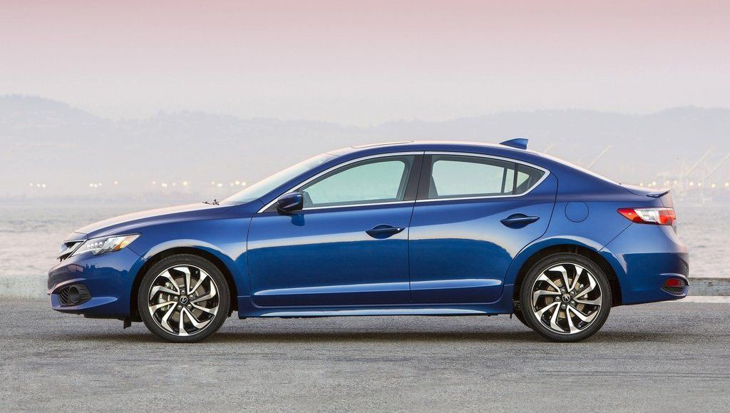 2017 Acura ILX side view blue color alloy wheels  Great Cars