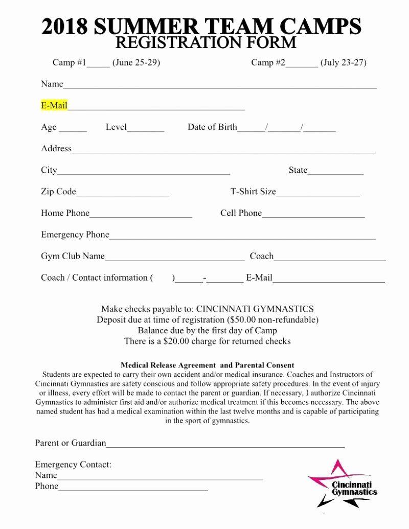Sports Registration Forms Template Unique Youth Basketball Registration Form Template New Sample Registration Form Registration Form Sample Registration