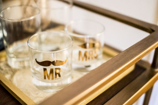 Mr. and Mrs. Rocks Glasses from Furbish Studio via The Suite Life Designs