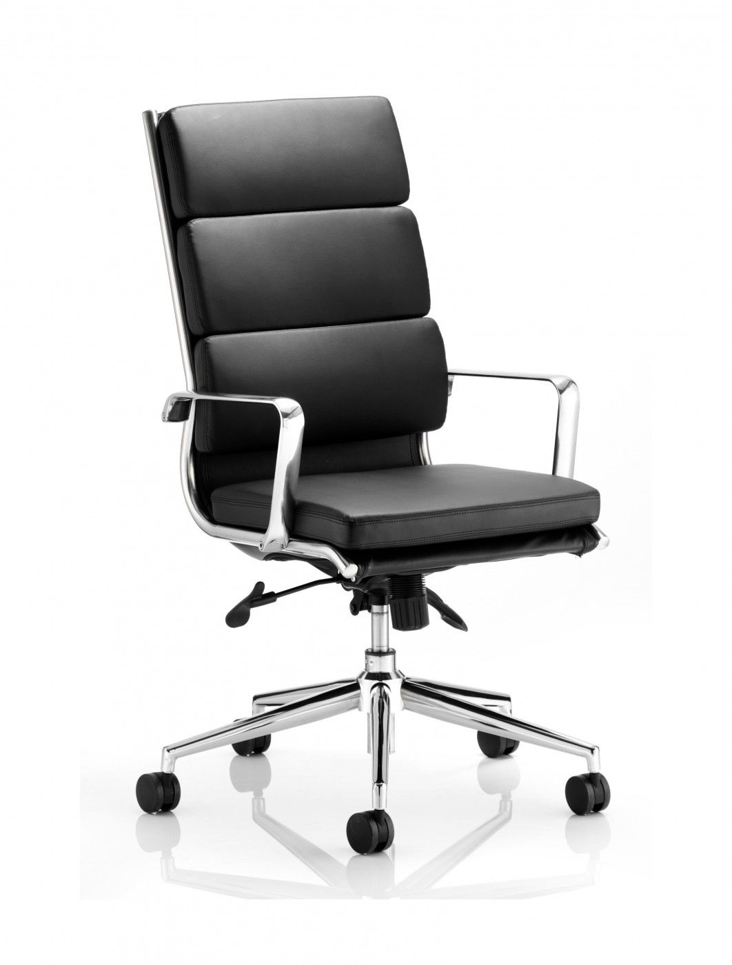 2018 Black Leather Executive Chair - Rustic Home Office Furniture ...