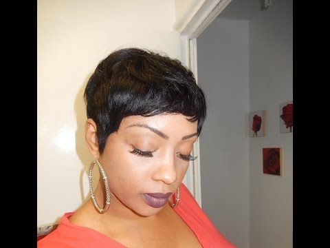 PIXIE SHORT WIG USING 16 PIECE HAIR!!!! - YouTube | Hairstyles ...
