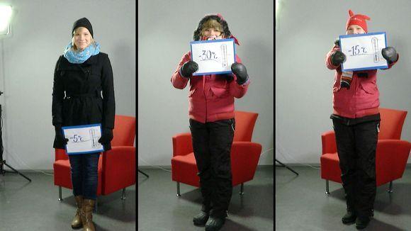 Video: Yle Oulun toimittaja Kati Jurkko esittelee lämpimiä asuja eri talvikeleille.