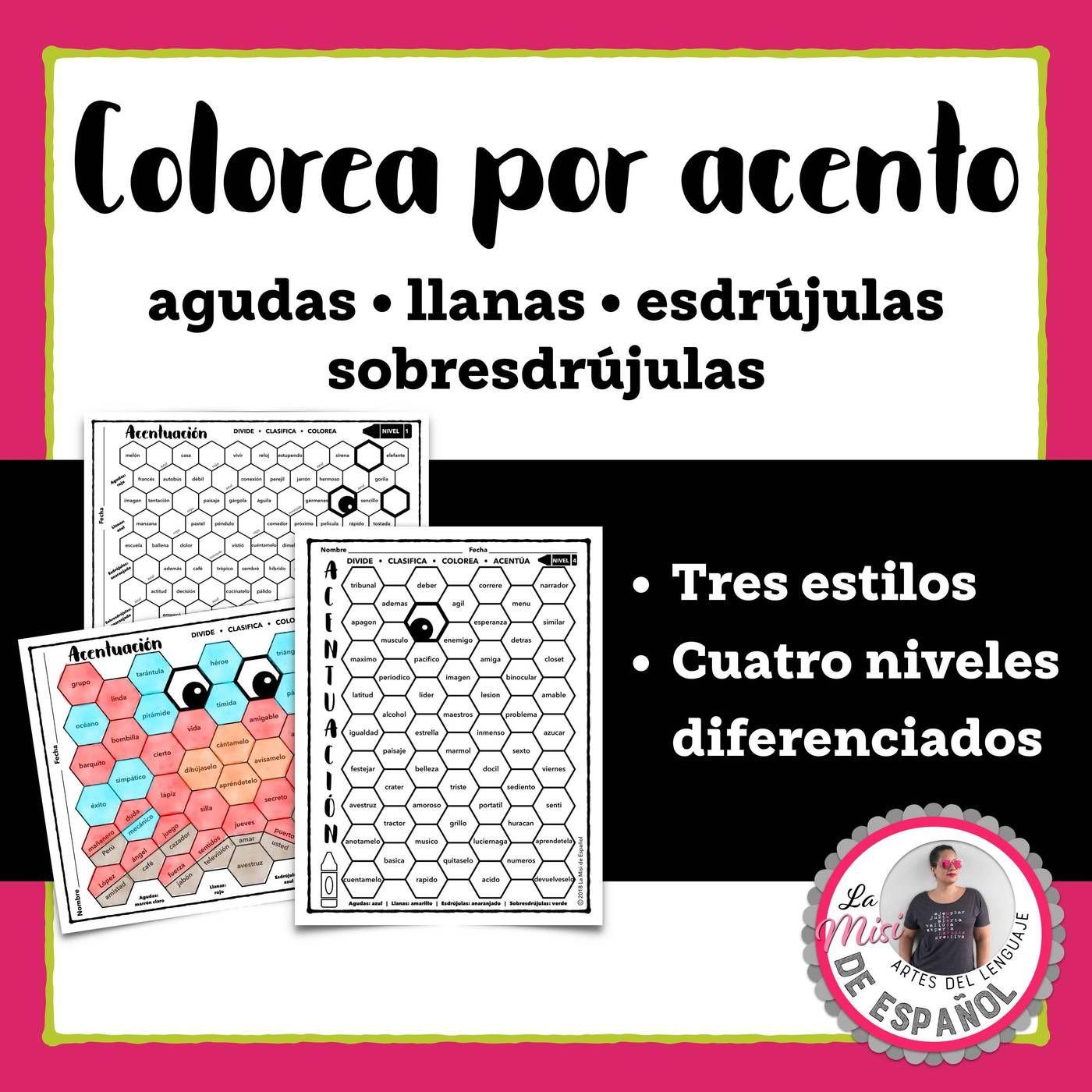 Colorea Por Acento Spanish Acentuacion Coloring Worksheets