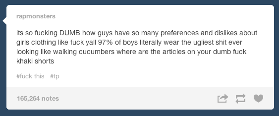 On the nerve of their sartorial criticism: