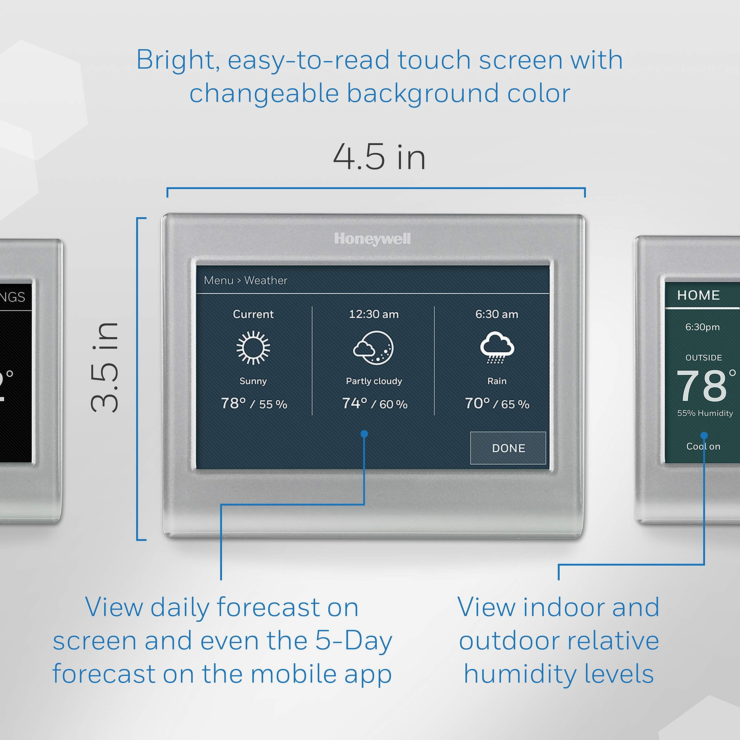 Honeywell Home Wifi Smart Color Programmable Thermostat Customizable Programming Alexa And Apple Home Enabled Inap Programmable Thermostat Honeywell Thermostat