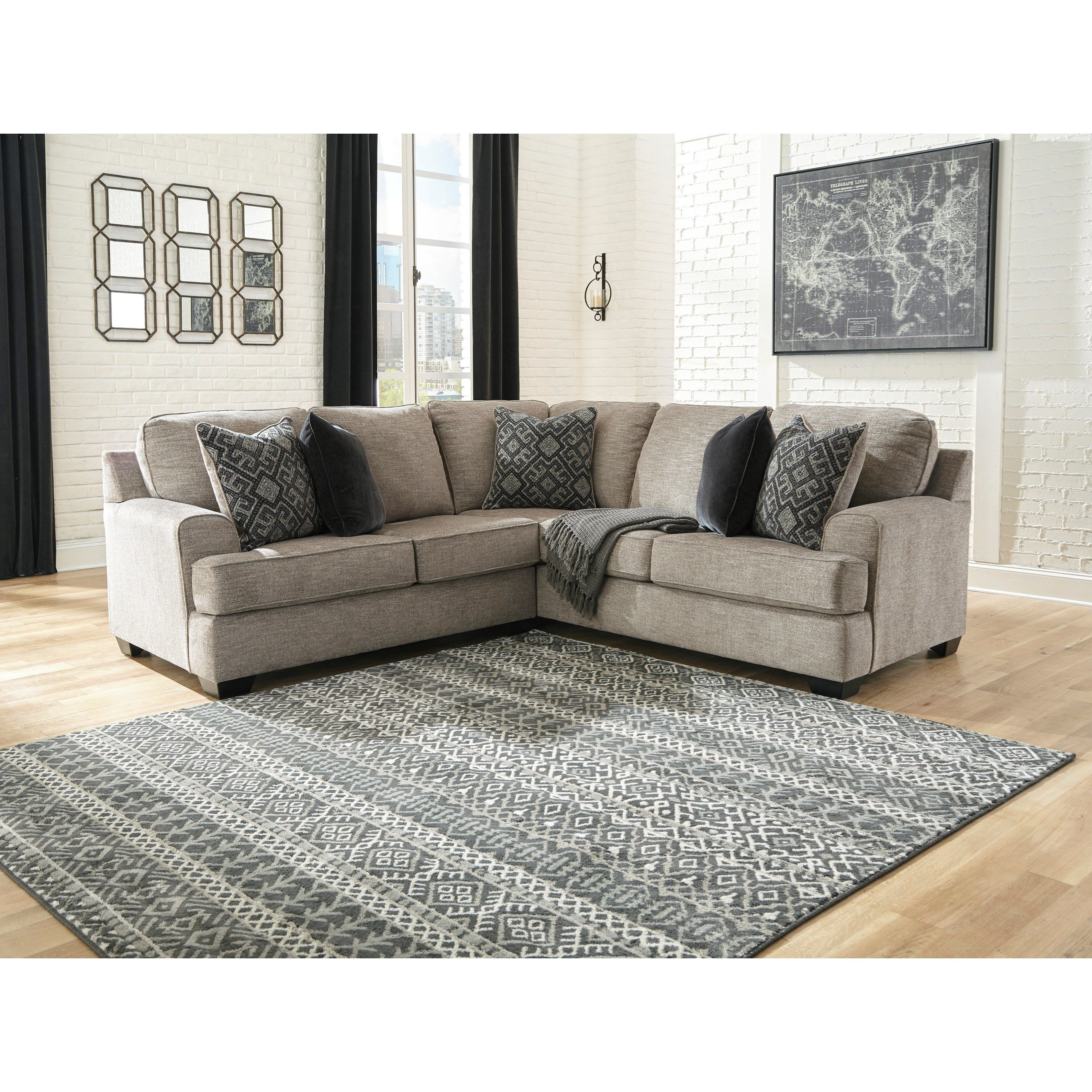 Bovarian 2 Piece Sectional With Track Arms By Signature Design By Ashley Furniture Value City Furniture 3 Piece Sectional