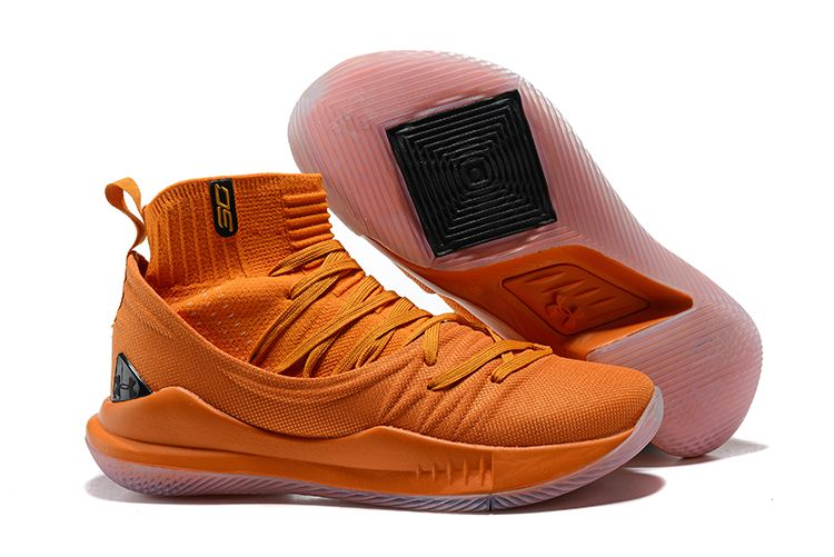 elegante en estilo mejores ofertas en volumen grande 2018 Cheap Under Armour Curry 5 High Orange Shoes For Sale ...