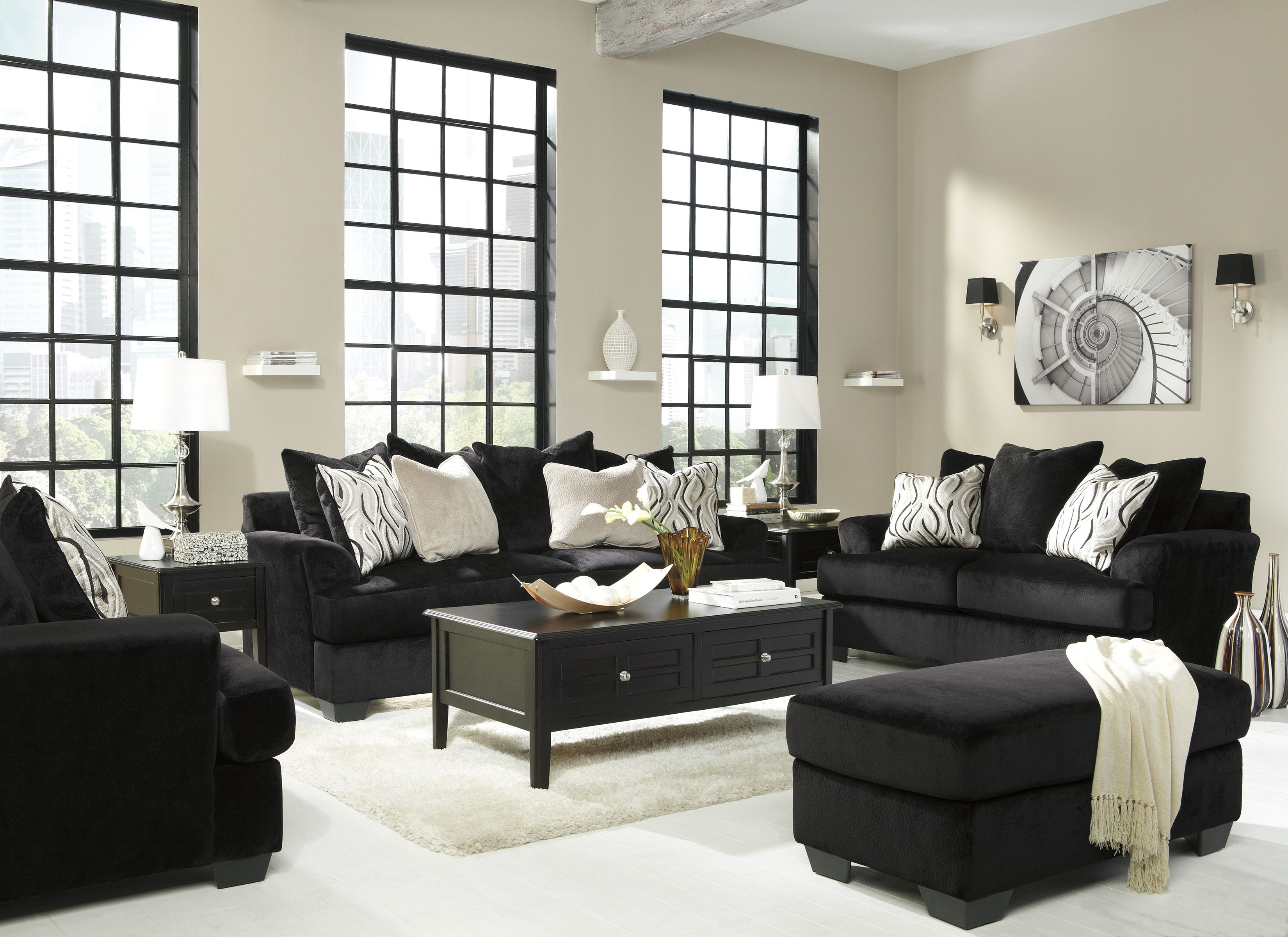 Sofa And Oversized Chair Set
