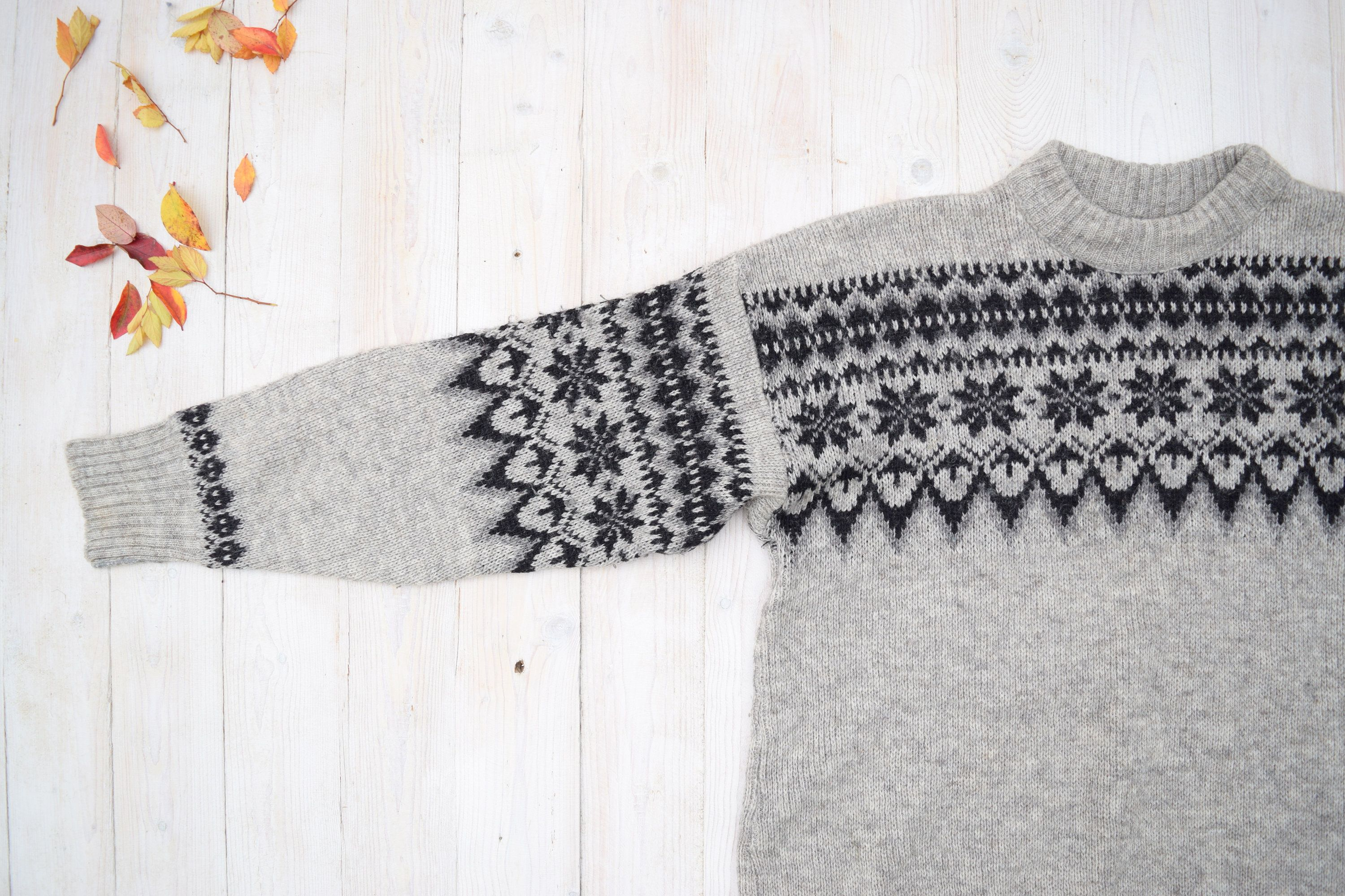 Scandinavian Sweater Gray Nordic Pullover Danish Sweater Warm Wool Pullover Christmas Sweater Winter Jumper Size M L In 2020 Warm Wool Cool Sweaters Sweaters