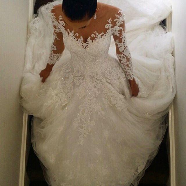 Instagram post by steven khalil steven khalil for Long sleeve wedding dress topper