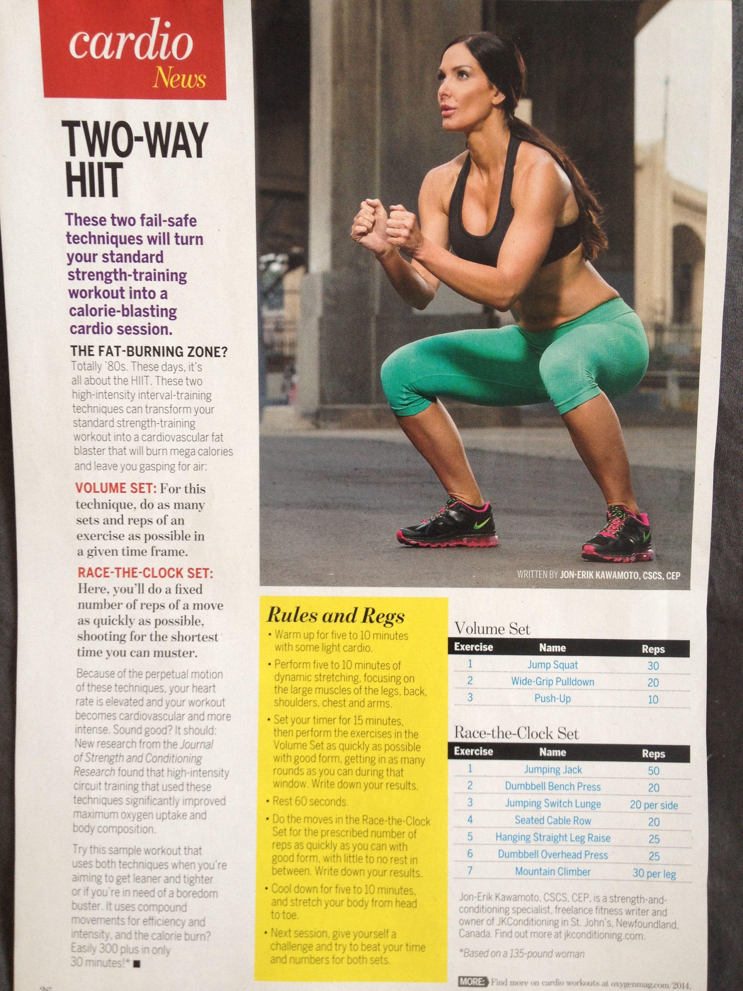 HIIT Workout. Best way to burn calories! | Oxygen Magazine ...
