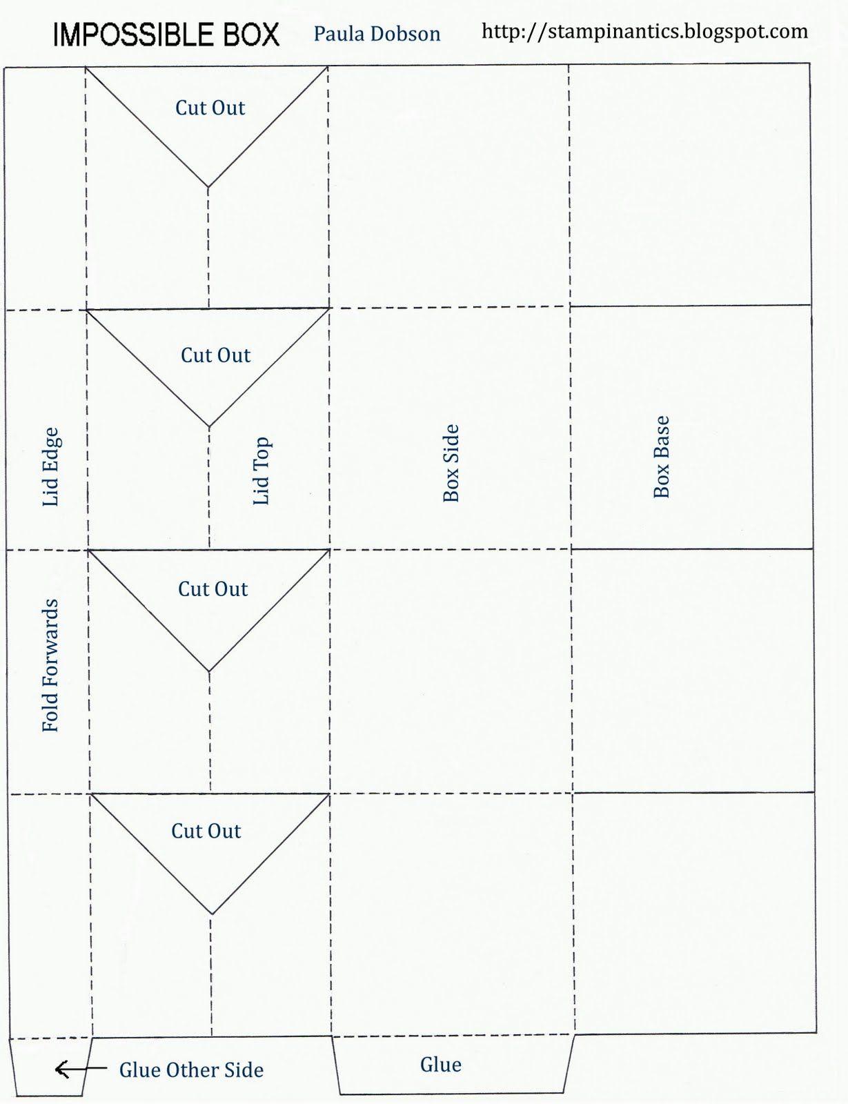 Impossible Box Tutorual Pop Up Box Cards Box Template Box Patterns