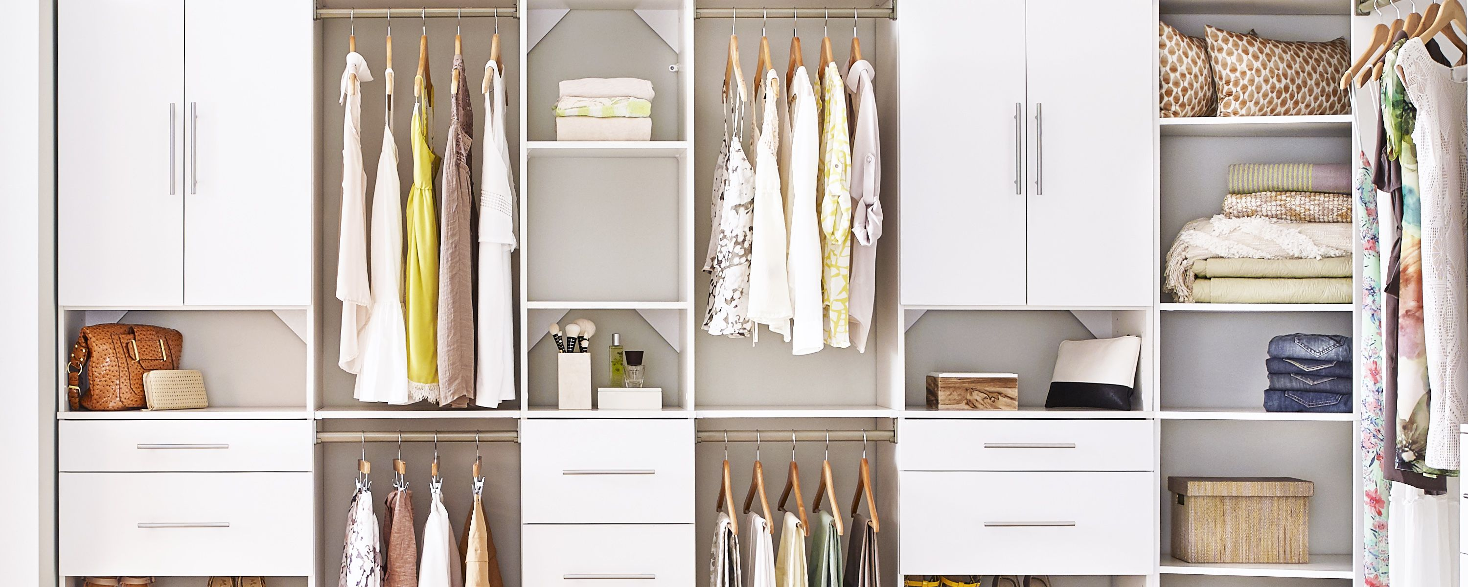 Closetmaid S Closet Organization Solutions Feature Fixed Mount And