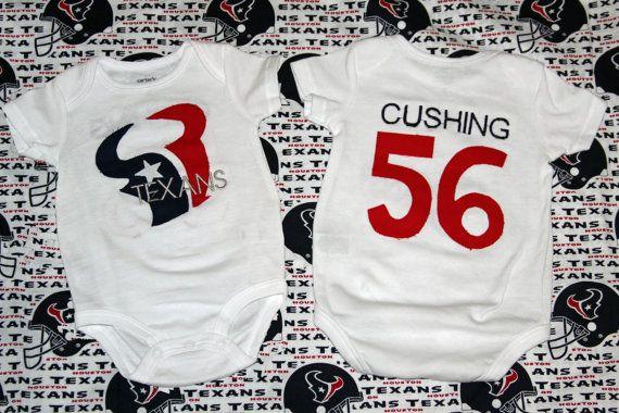 half off b447a d16cb Custom Houston Texans jersey onesie by MollyMooDesigns4u on ...