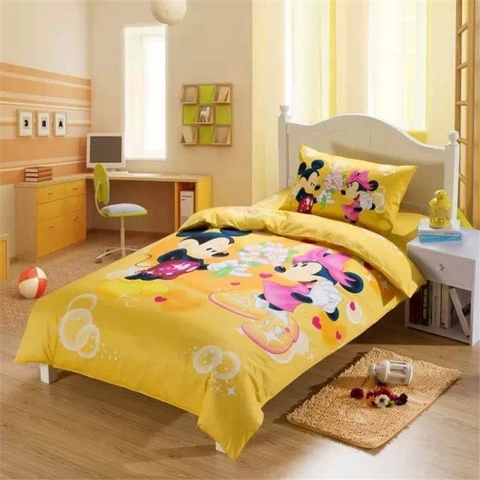 Yellow Mickey Minnie Mouse Bedding Mickey Mouse Bed Set Colchas