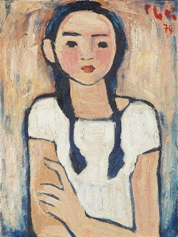 Fille de l'artiste by Bui Xuan Phai