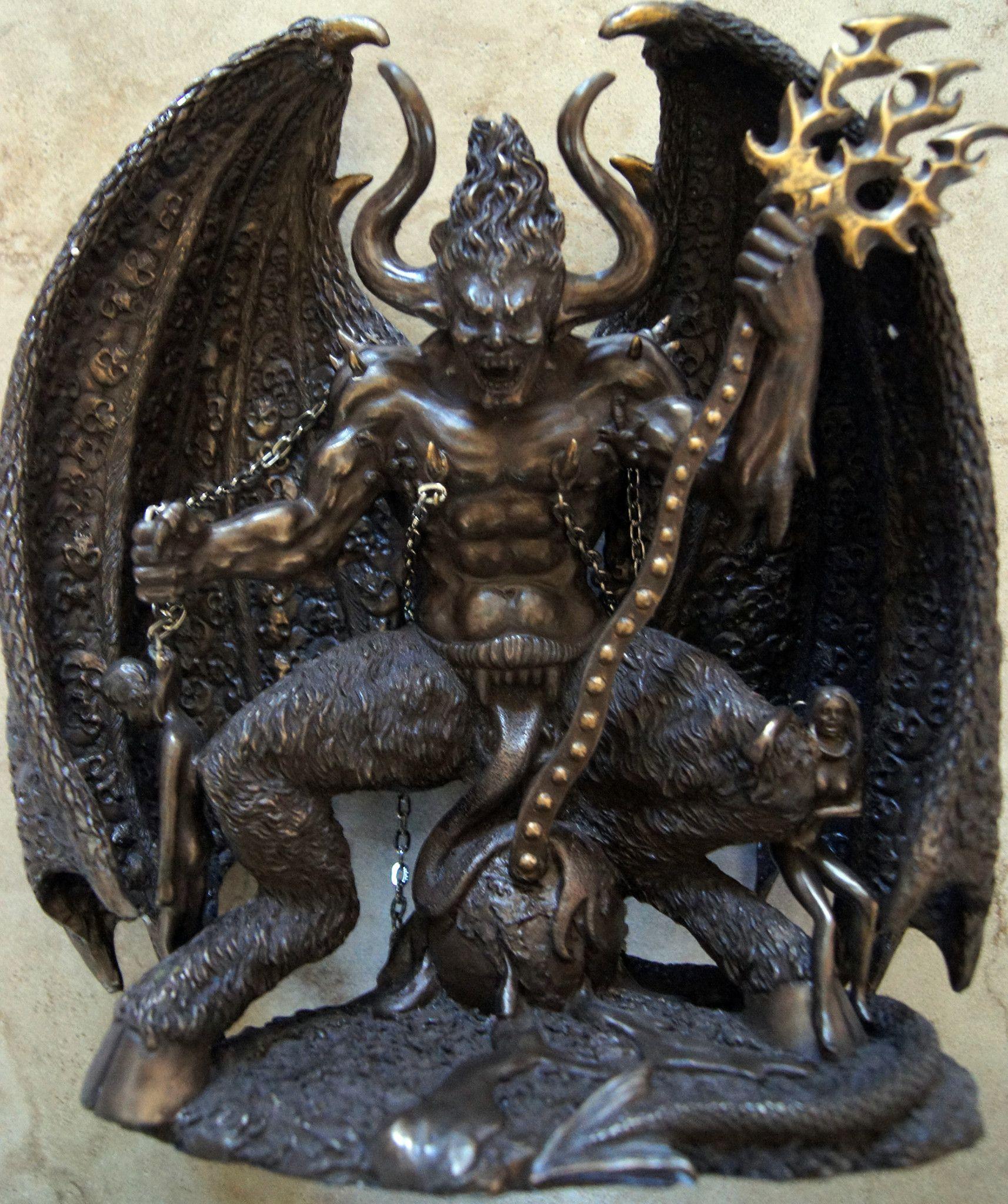 "Lucifer Devil: Cold Cast Bronze. Stands 10"" X 9"" Lucifer Has Many"
