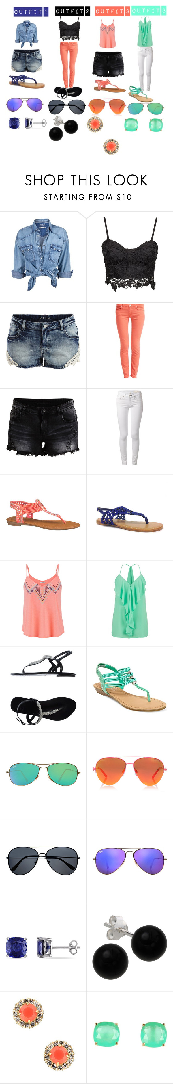 """Untitled #622"" by samantha-myers-2 ❤ liked on Polyvore featuring Soul Cal, VILA, 7 For All Mankind, rag & bone, maurices, Bamboo, Bryan Blake, Madden Girl, Ray-Ban and Kurt Geiger"