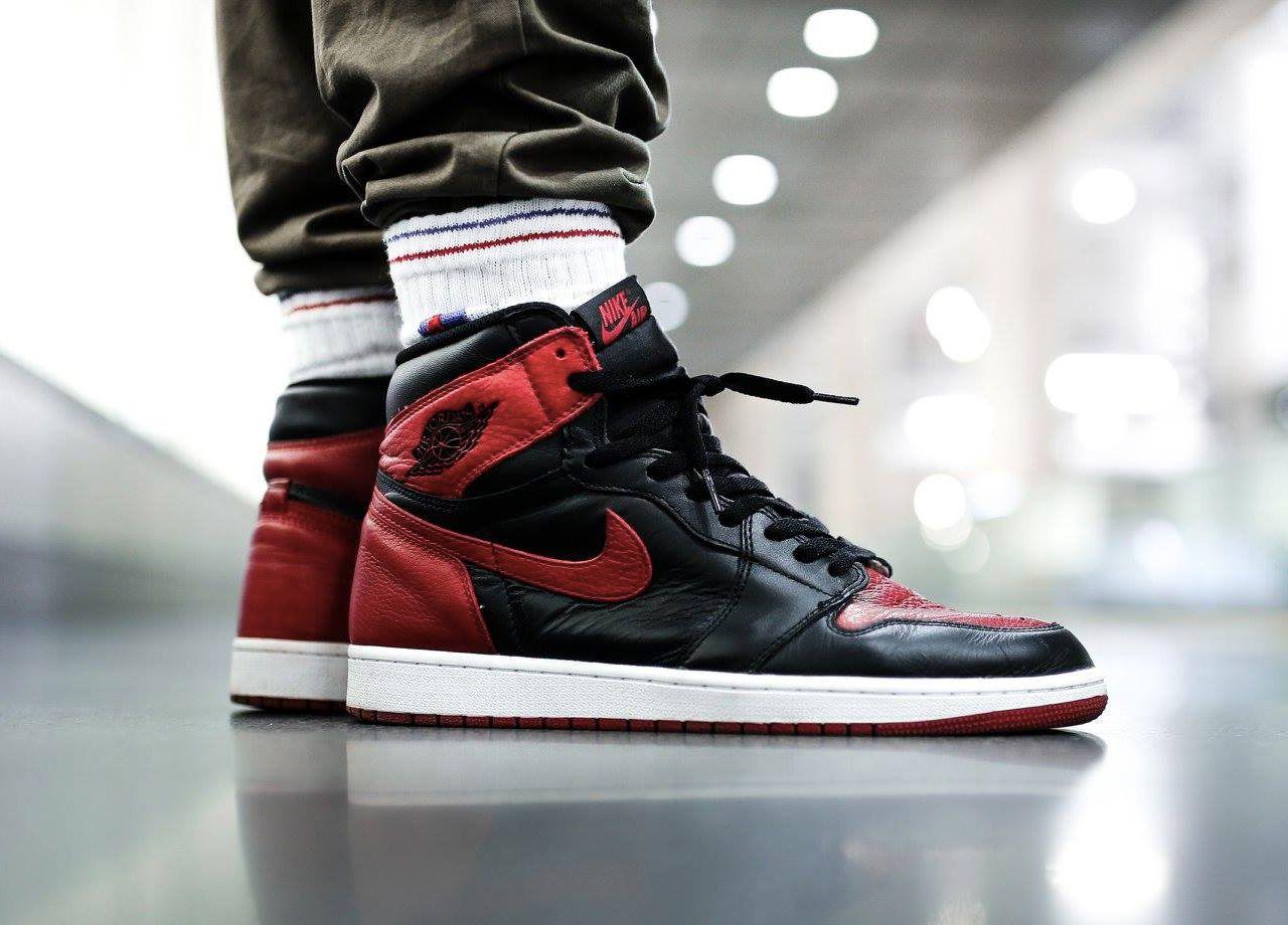 Nike Air Jordan 1 Bred (by eskalizer) – Sweetsoles – Sneakers, kicks and