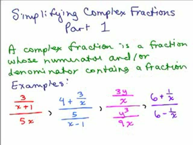 Complex Fractions / Simplifying Rational Expressions Videos for ...