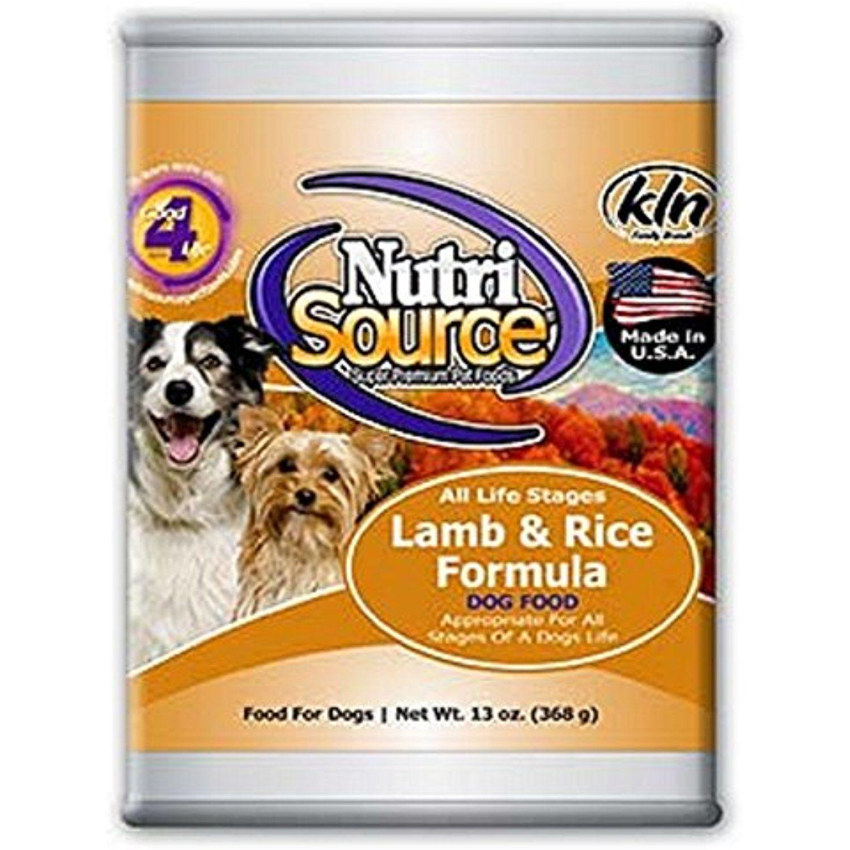 NutriSource Lamb & Rice Canned Dog Food 12/13 oz Case