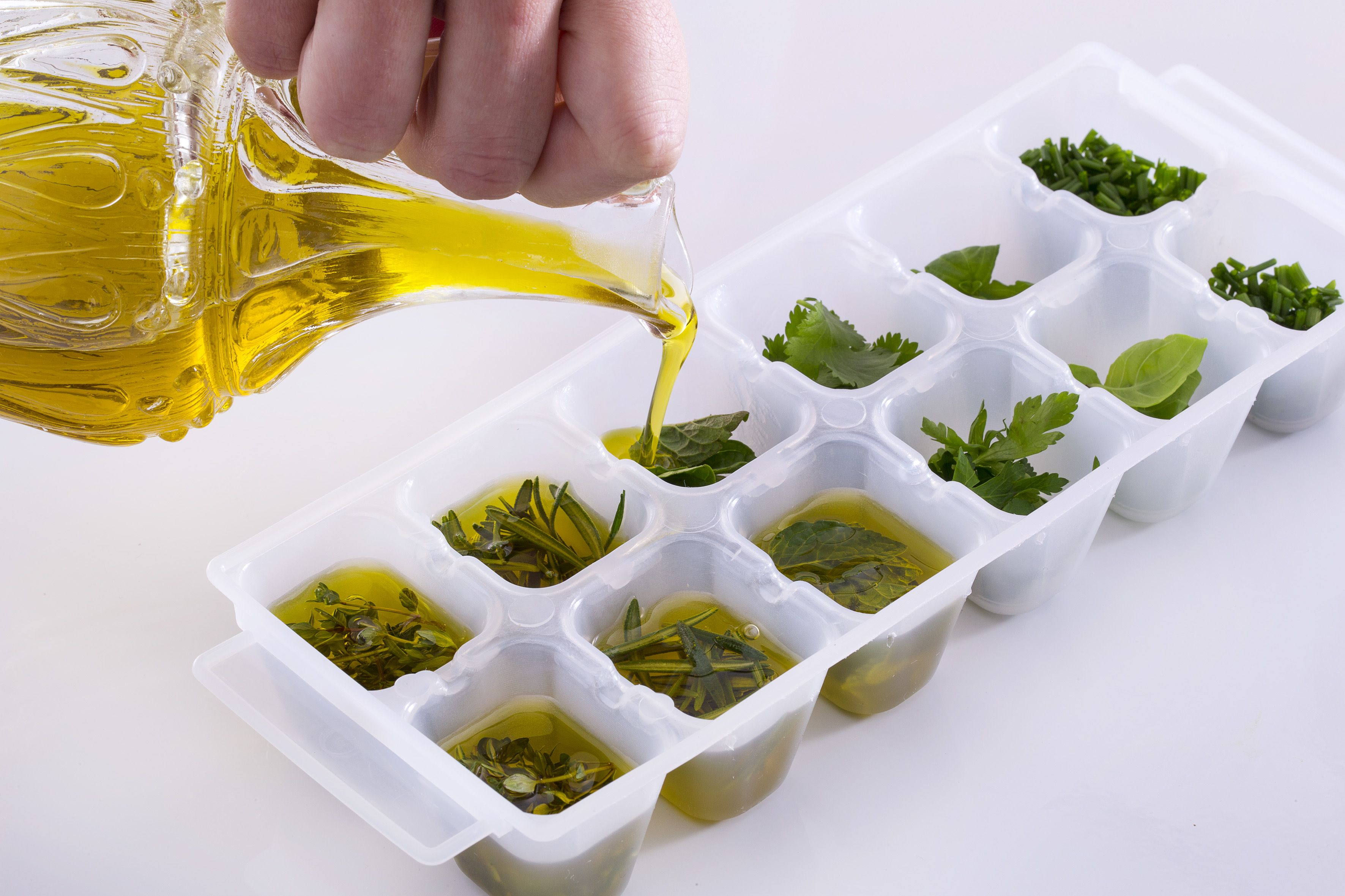 Como congelar ervas aromáticas