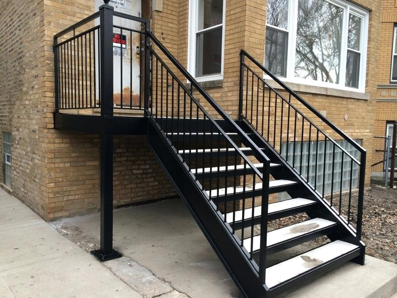 Residential Metal Stairs Exterior Railings Outdoor Exterior