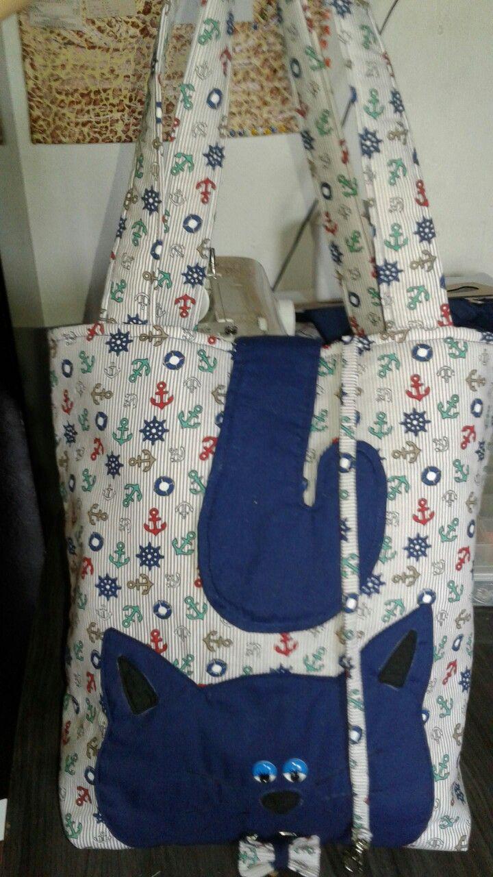Ecobag Blue Cat