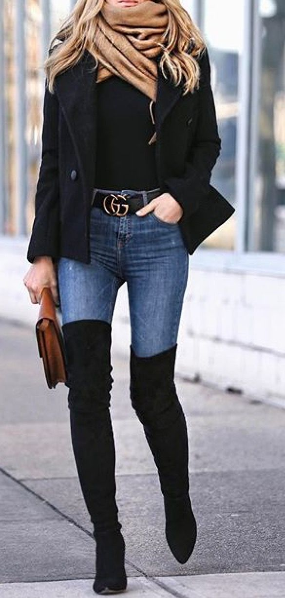 1 JEANS ARE A MUST | Botas largas mujer, Ropa casual y Botas