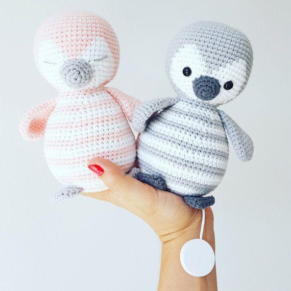 Amigurumi Häkel Anleitung Pinguin Pitschu Als Spieluhr Oder Teddy