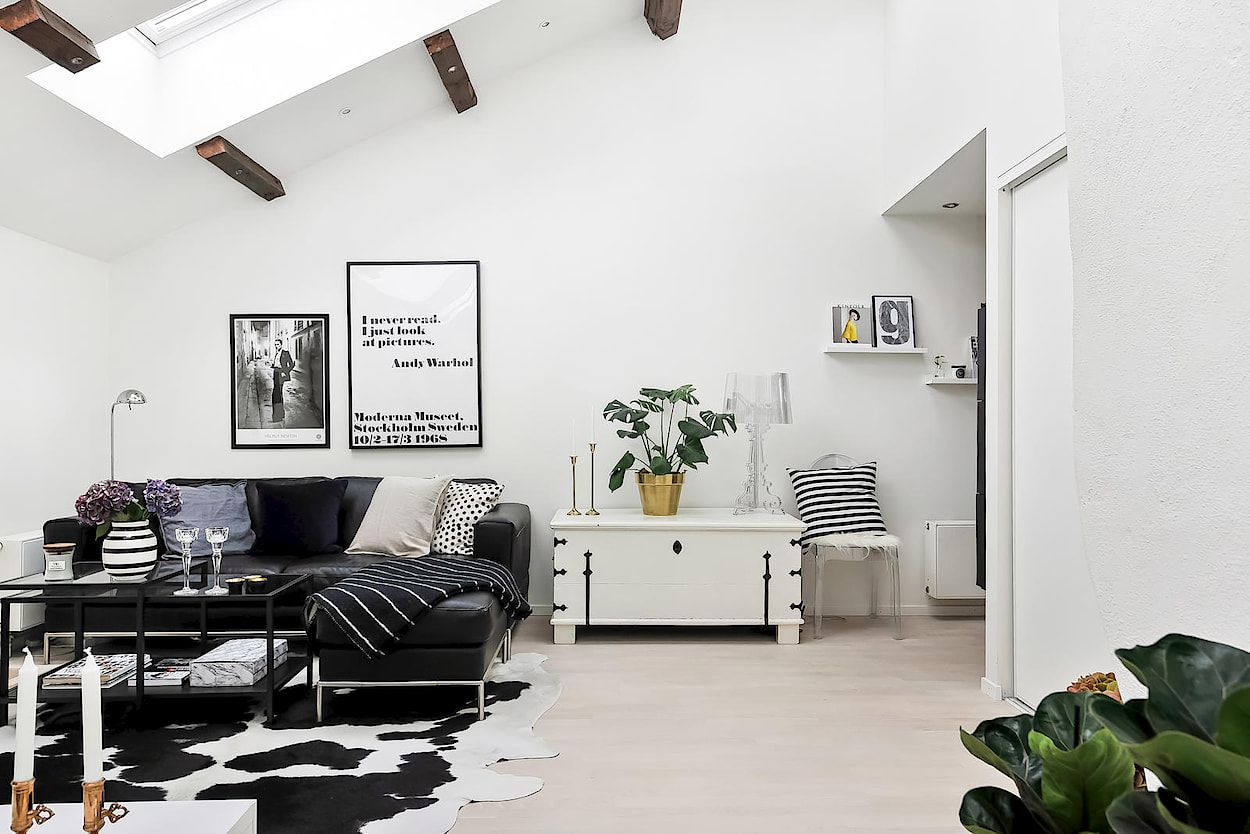 Espaces harmonieux dans un mini loft also home living pinterest rh