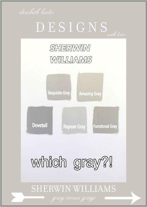 Sherwin Williams Grey Versus Greige Paint Color SW7023 Requisite Gray Amazing