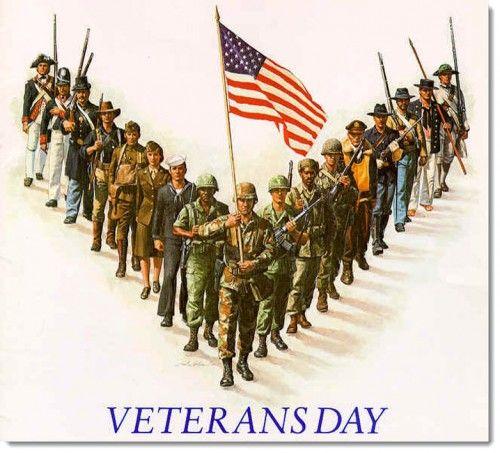 vintage,veterans,day,poster