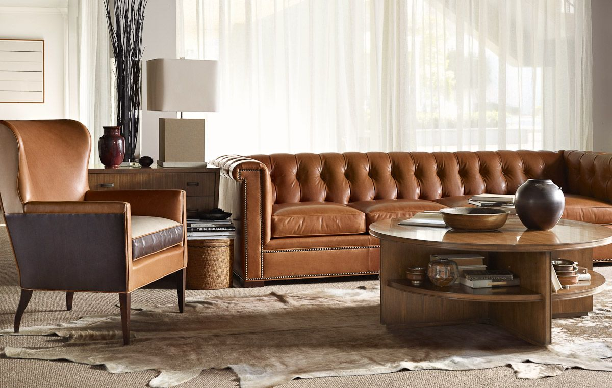 Hickory Chair Kent Sofa Living room leather, Furniture