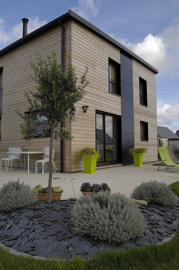 Réalisations de maisons - Groupe Trecobat-maison ossature bois plain
