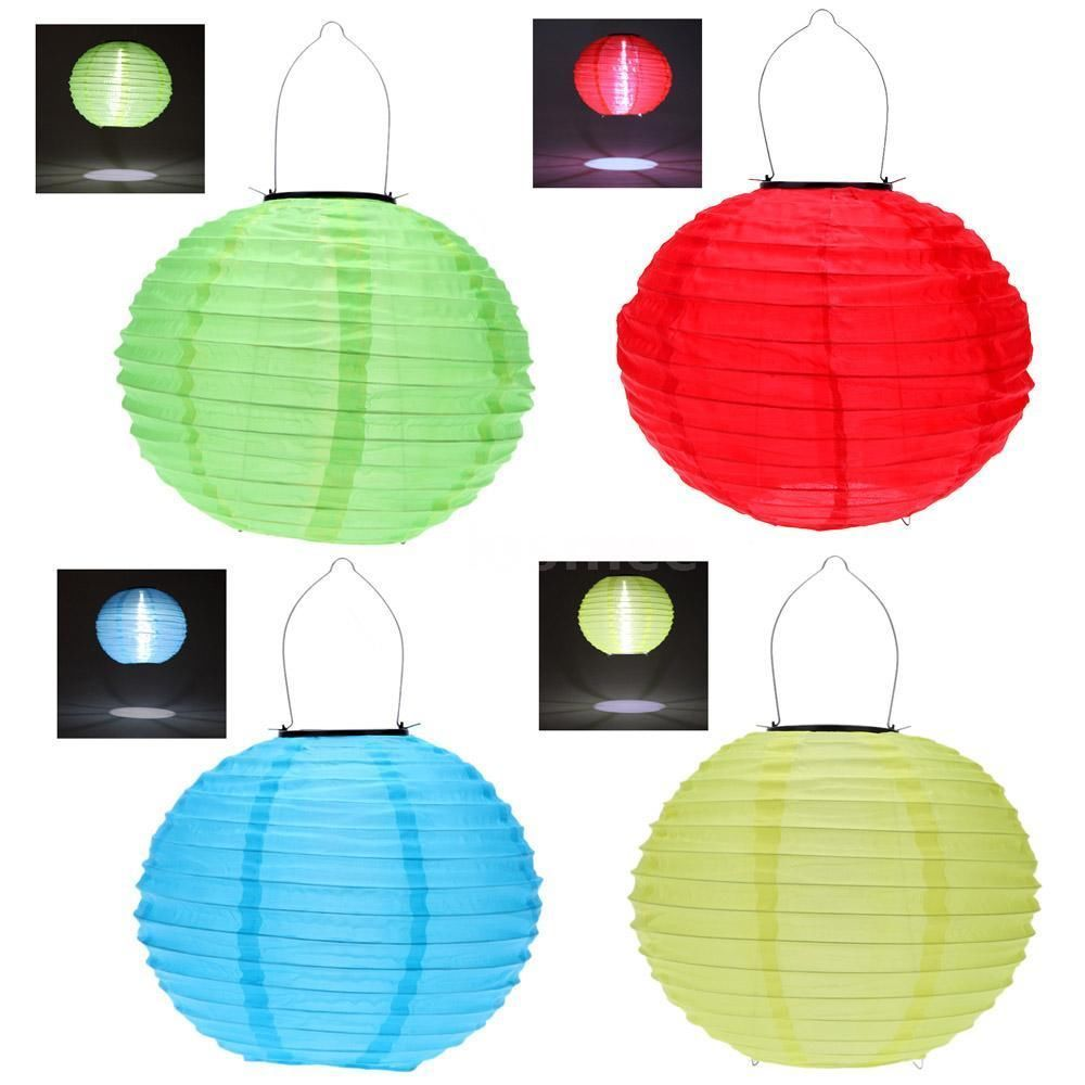 10 Solar Powered Chinese Hanging Lantern Lamp Outdoor Hanging Lights Solar Lanterns Outdoor Lanterns