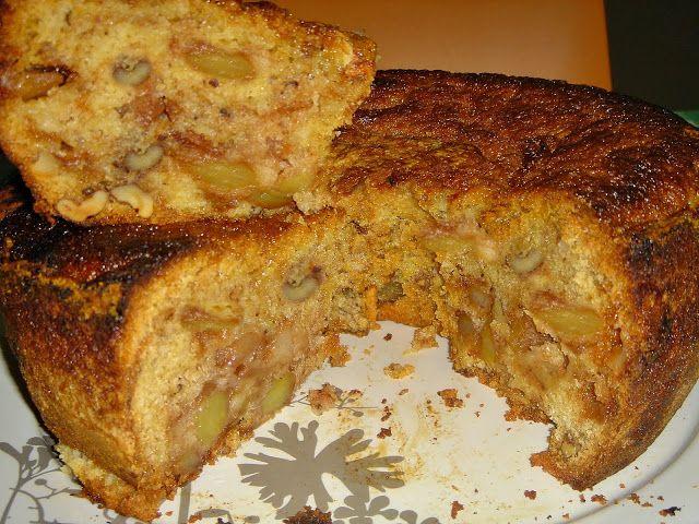 Receitas práticas de culinária: Bolo de maçã e nozes