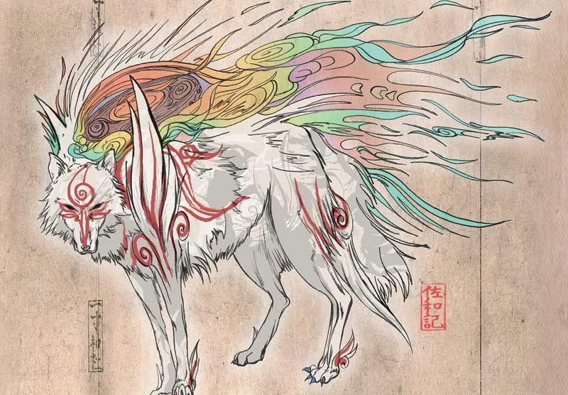 Shiranui This Is In Isshaku S House Okami Amaterasu Art