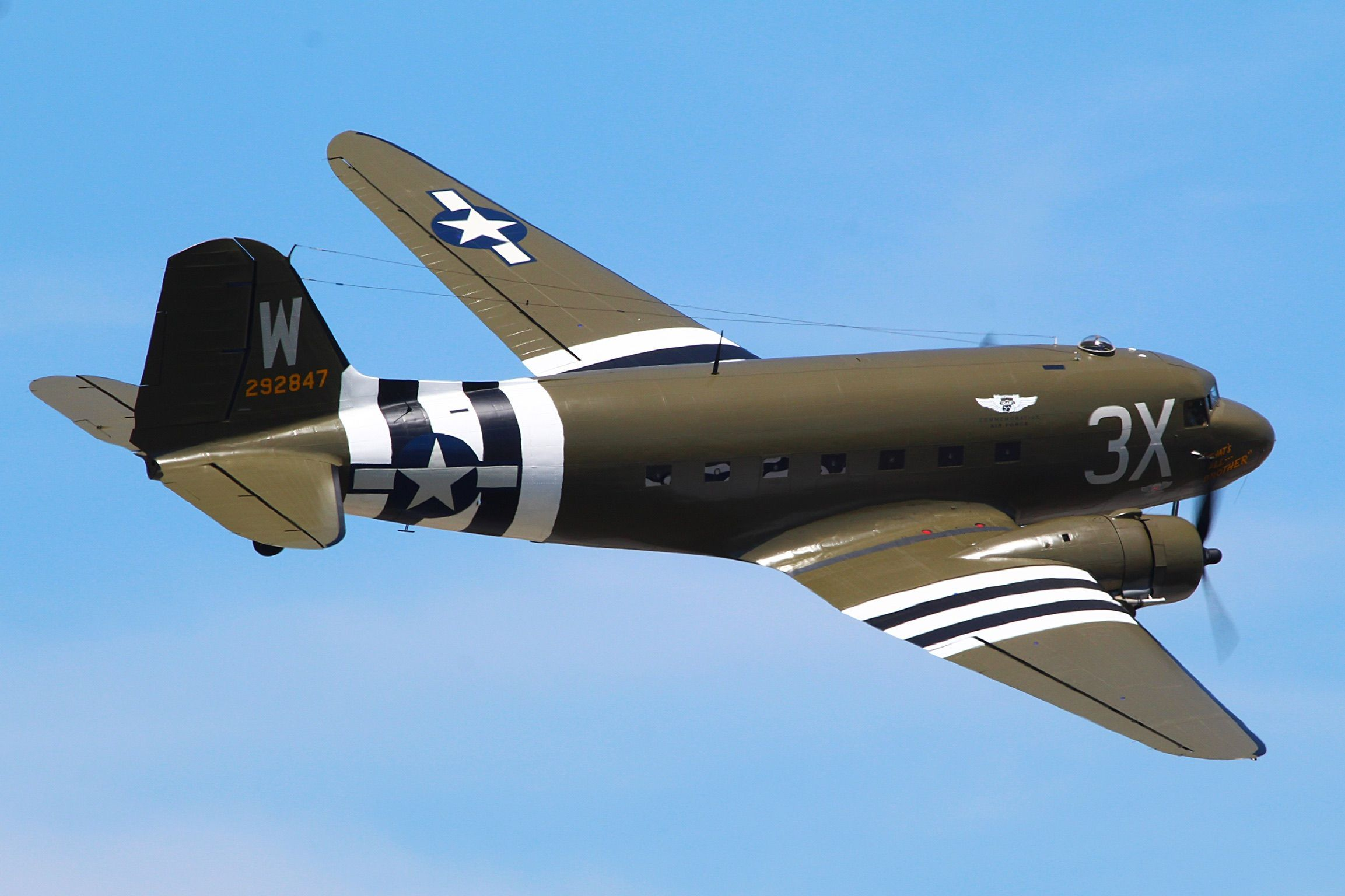 "The commemorative Air Force c-47 ""that's all brother"" makes"