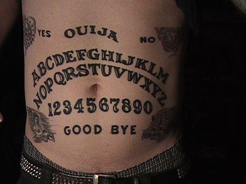 Ouija Board Tattoo Ouija Tattoo Ouija Stomach Tattoos