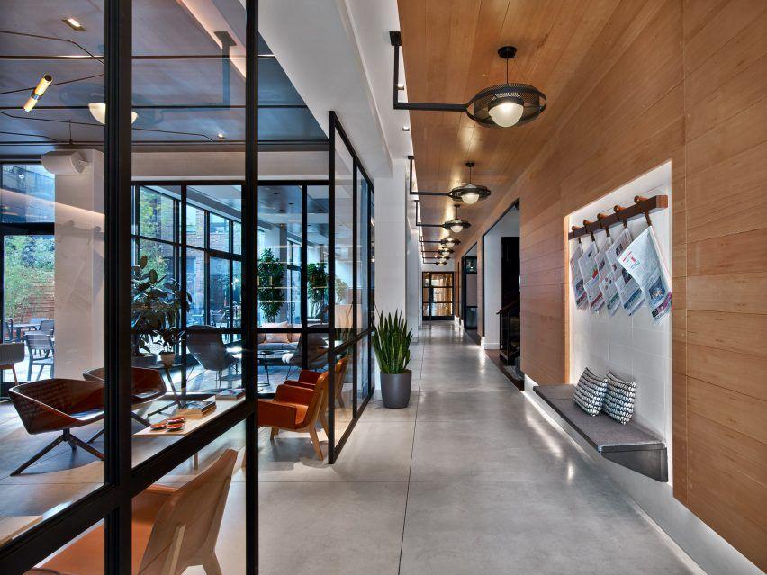 Hudson square avroko interiors new york hotel usa dezeen for Design hotel usa
