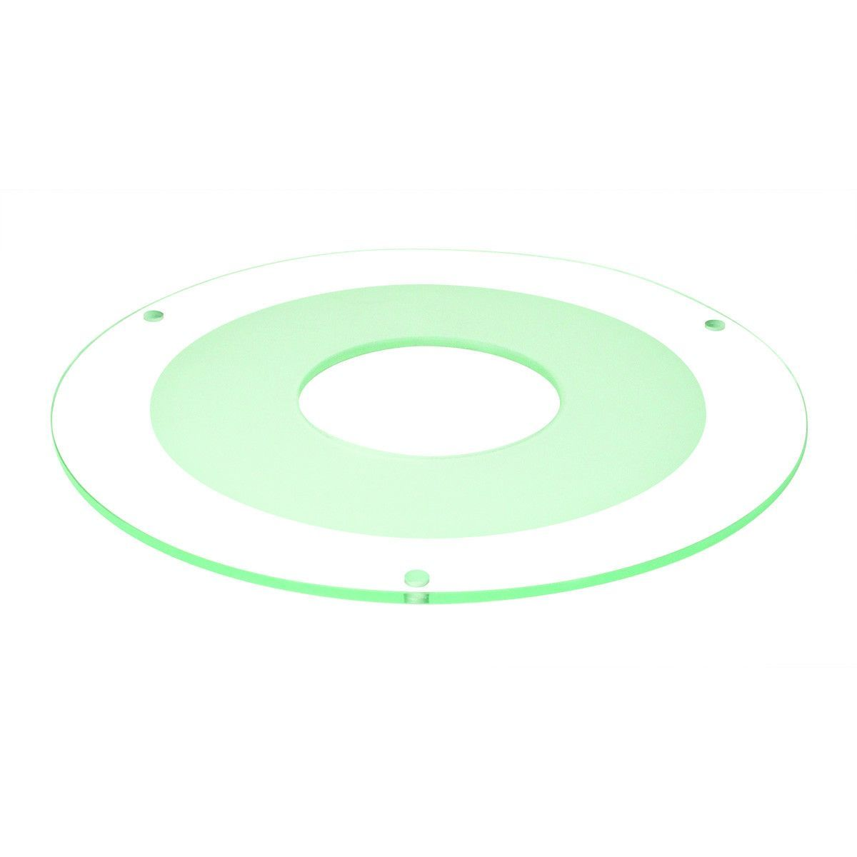 """8"""" Tempered Frosted Center, Clear Outer, 3-1/8"""" Open"""
