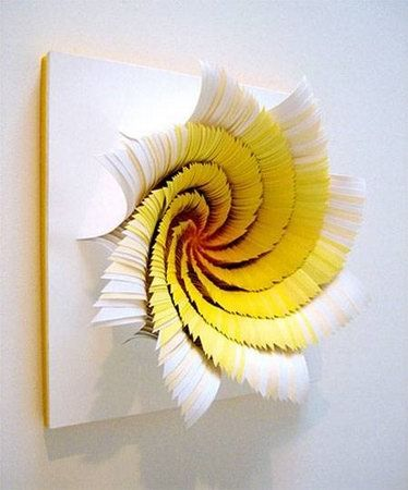 Simple But Beautiful Rotating Paper Art Craftycreative - Mesmerising hand crafted paper sculptures jen stark