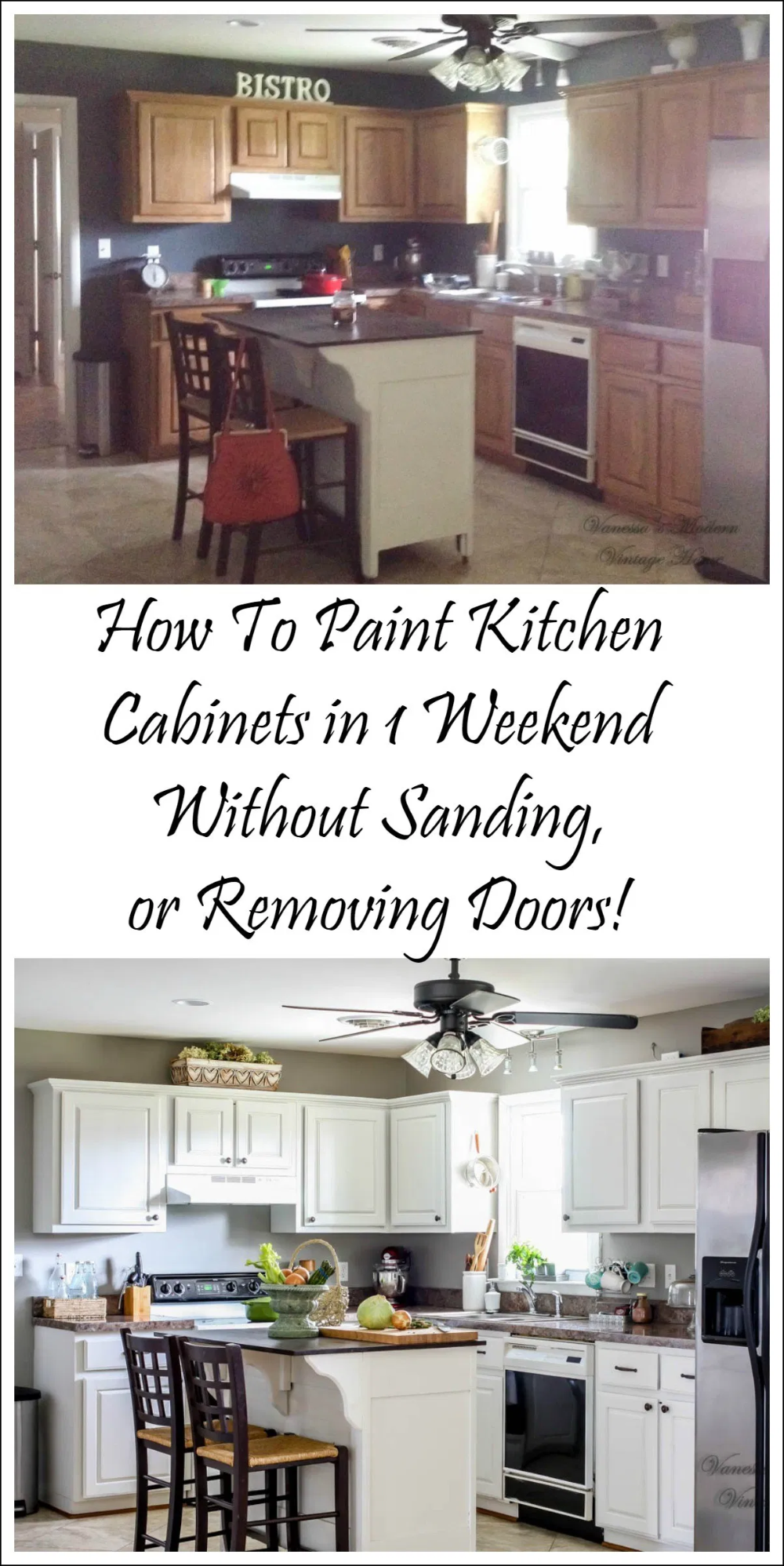 How I Painted My Kitchen Cabinets Without Removing The Doors In 2020 Painting Kitchen Cabinets White Painting Kitchen Cabinets New Kitchen Cabinets