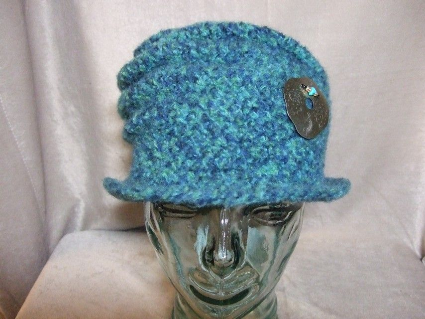 Handmade Wool Felted Hat $45.00 Size 22 inches 55.9cm