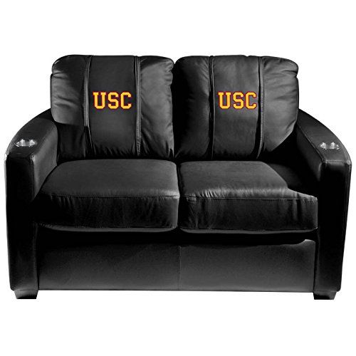 XZipit College Silver Loveseat with USC Trojans Secondary Logo Panel Black -- More info could be found at the image url.
