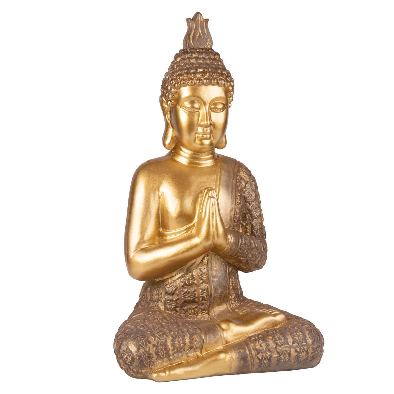 Statue Bouddha Dore H71 Sur Maisons Du Monde Piochez Parmi Nos Meubles Et Objets Deco Et Faites Le Plein D Inspiration Buddha Statue Maisons Du Monde