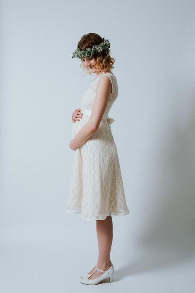 Schwangerschaftsbrautkleid \
