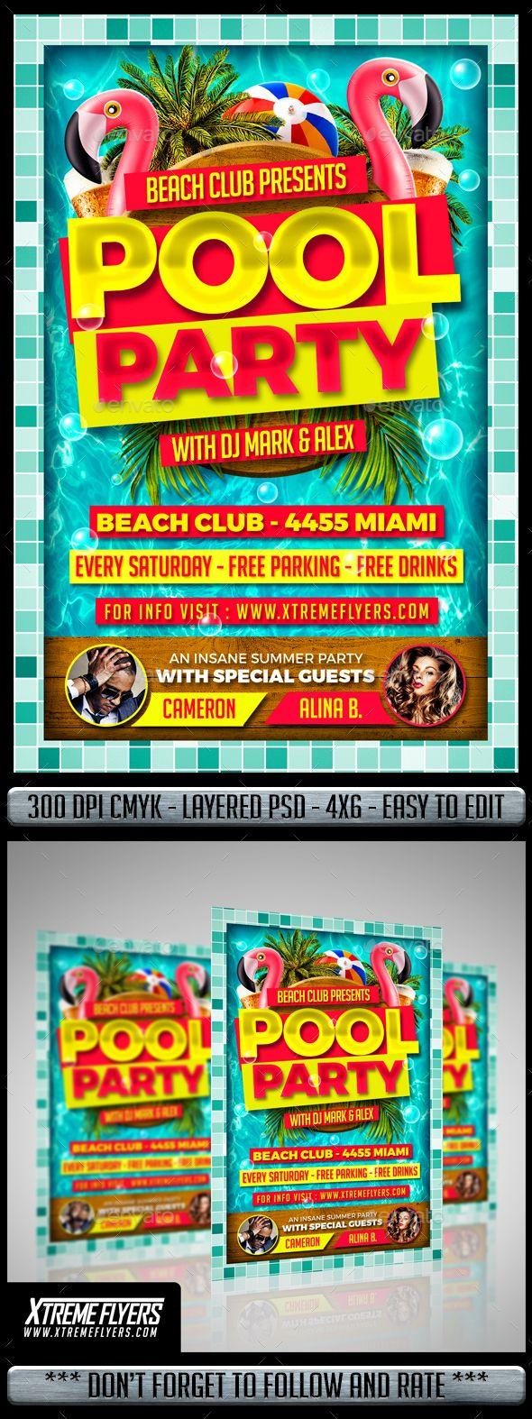 pool party flyer pinterest party flyer flyer design templates