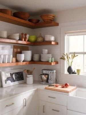 18 imágenes de cocinas sin armarios cerrados | Ideas para, Space ...